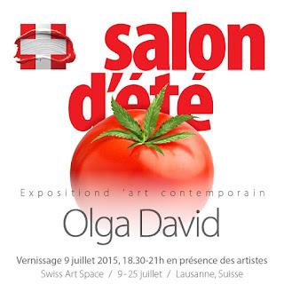 salon d'Eté  15, Olga David Ausstellung