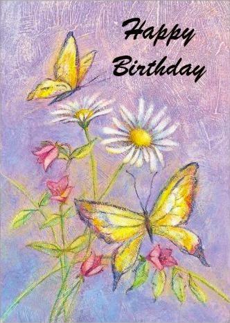 Tarjetas de Cumpleaños con Mariposas, parte 1