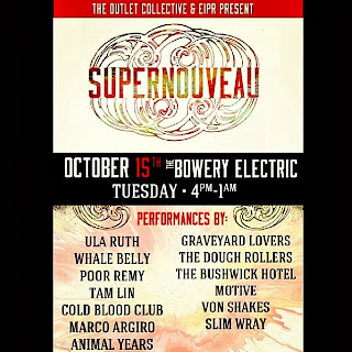 Cold Blood Club, Marco Argiro, The Bushwick Hotel, Graveyard Lovers (etc.) Play CMJ Showcase at Bowery Electric Tomorrow Night