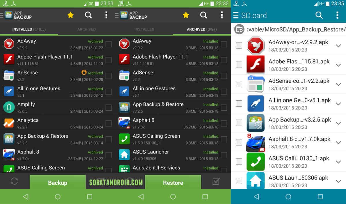 Cara Mudah & Praktis Backup Aplikasi Android Apk di ASUS Zenfone