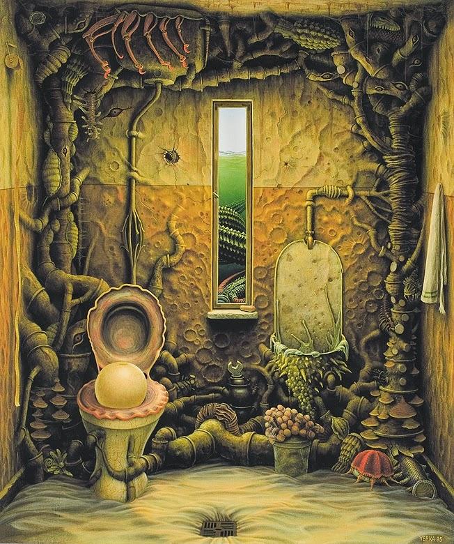 19-The-oceanic-bathroom-Jacek-Yerka-Surreal-Paintings-Parallel-Universes-www-designstack-co