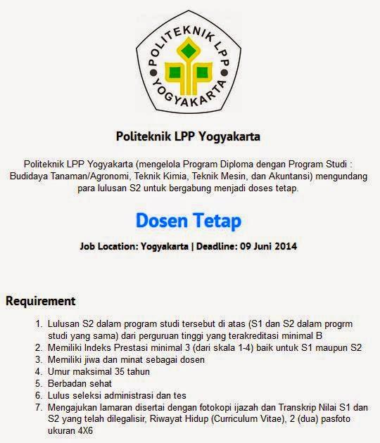 lowongan-kerja-dosen-yogyakarta-2014