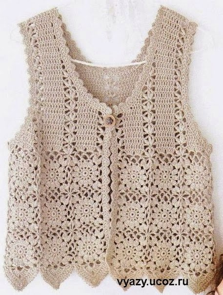 Free Crochet Cotton Vest Pattern : Crochet Patterns to Try: Free Crochet Charts and ...