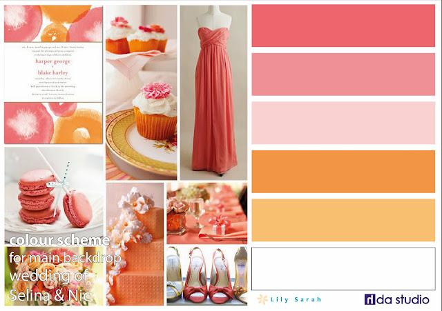 Wedding colour scheme by Lily Sarah