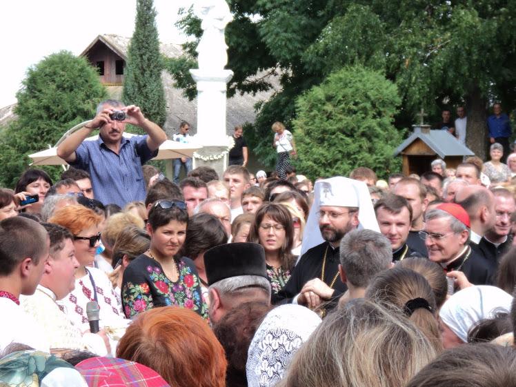 На Всеукраїнську прощу Зарваниця вітала дорогих Гостей:главу УГКЦ патріарха Святослава та кардинала