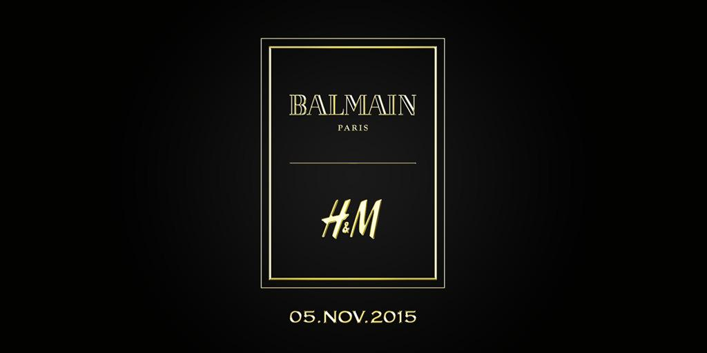 H&M x Balmain designer collaboration
