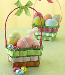 Великденски кошнички от рециклирани материали