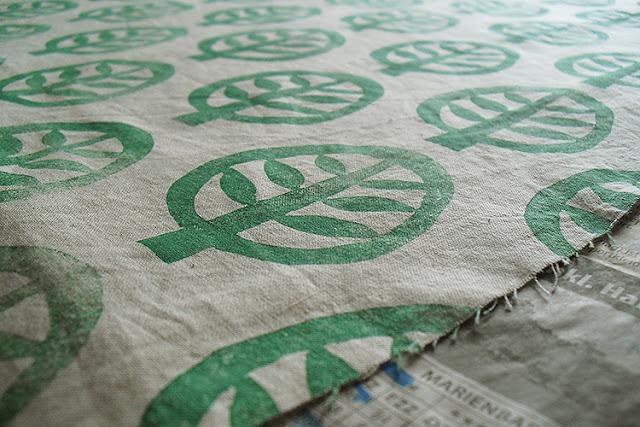 Stempeldruck auf Baumwolle