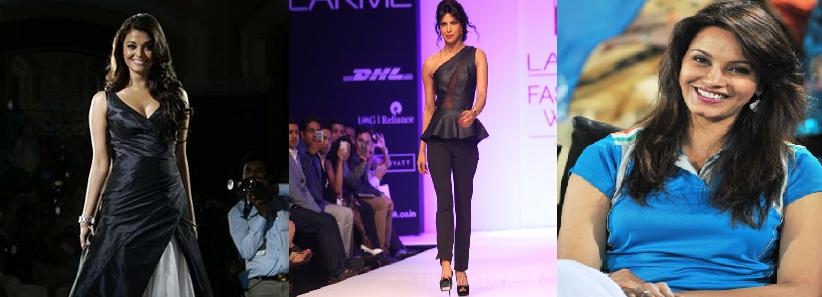 Ashwarya Rai, Priyanka Chopra and Diana Hayden as model stars