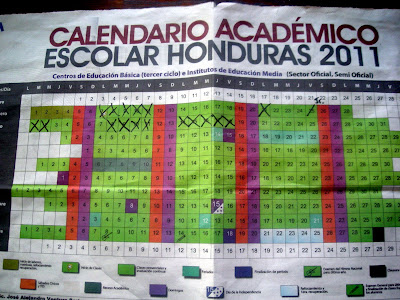 Honduran school calendar