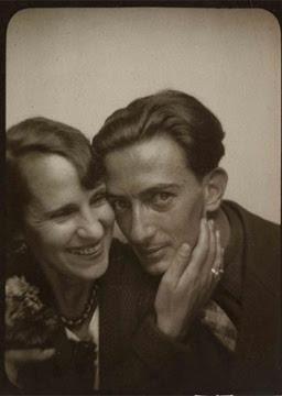 Gala Eluard and Salvador Dali  Photomatonportrait  1929Yves Tanguy Portrait
