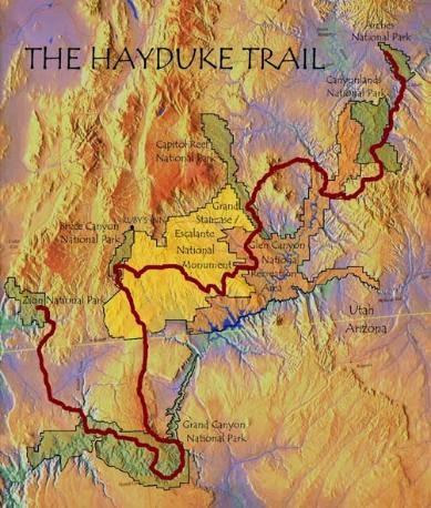Hayduke Map