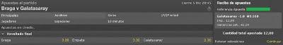 Apuestas Deportivas Rosberg Fútbol– Champions League Galatasaray Bet365