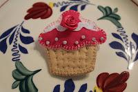 Broche cup cake vilt