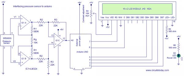 sensor de pressão com Arduino