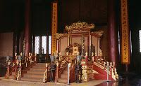 Forbidden City Emperor's throne