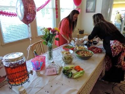 Heather and Jen Jennifer Nation preparing the food table
