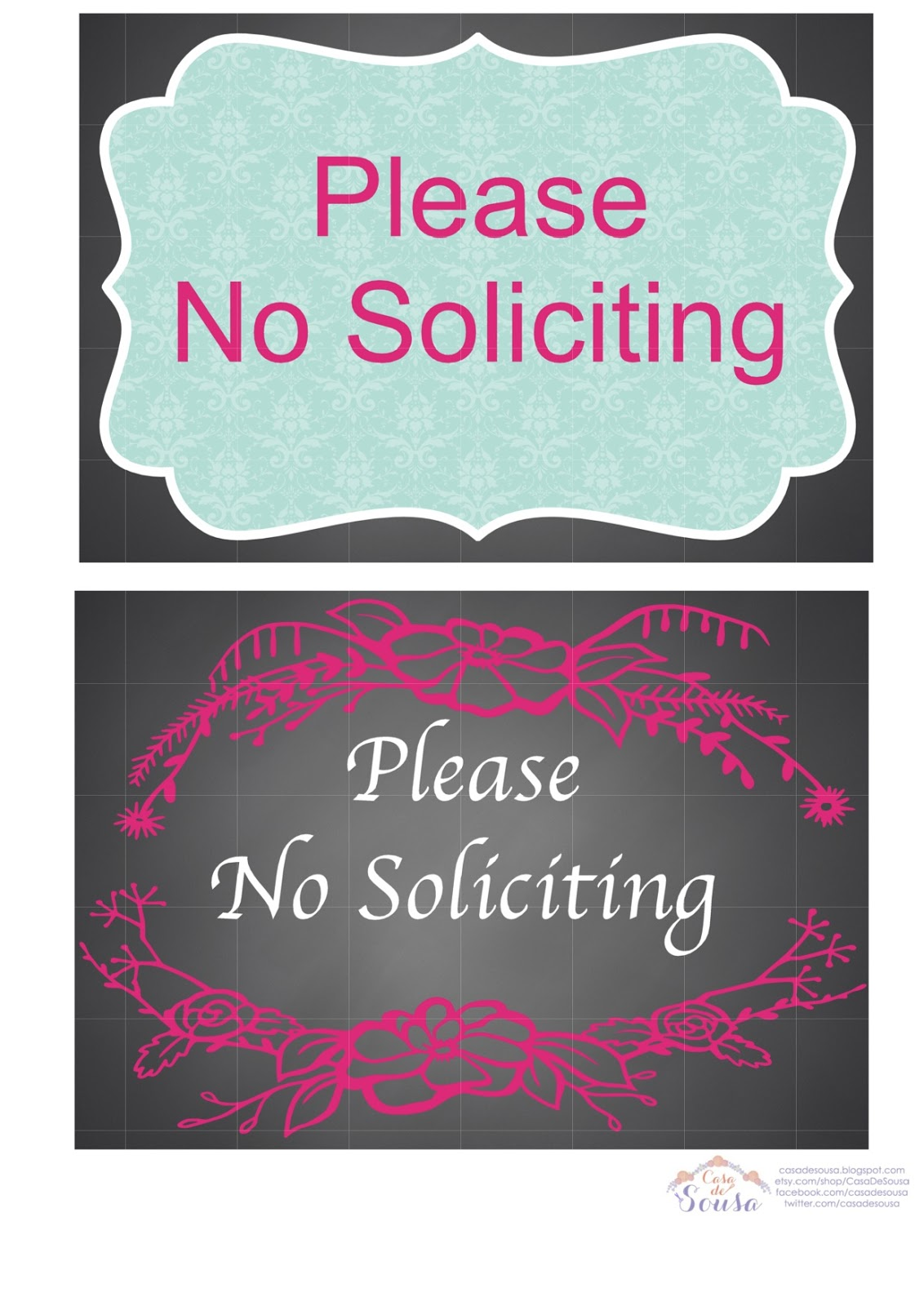 photo about No Soliciting Printable named casa de sousa: No cost Printable-No Soliciting Signs and symptoms