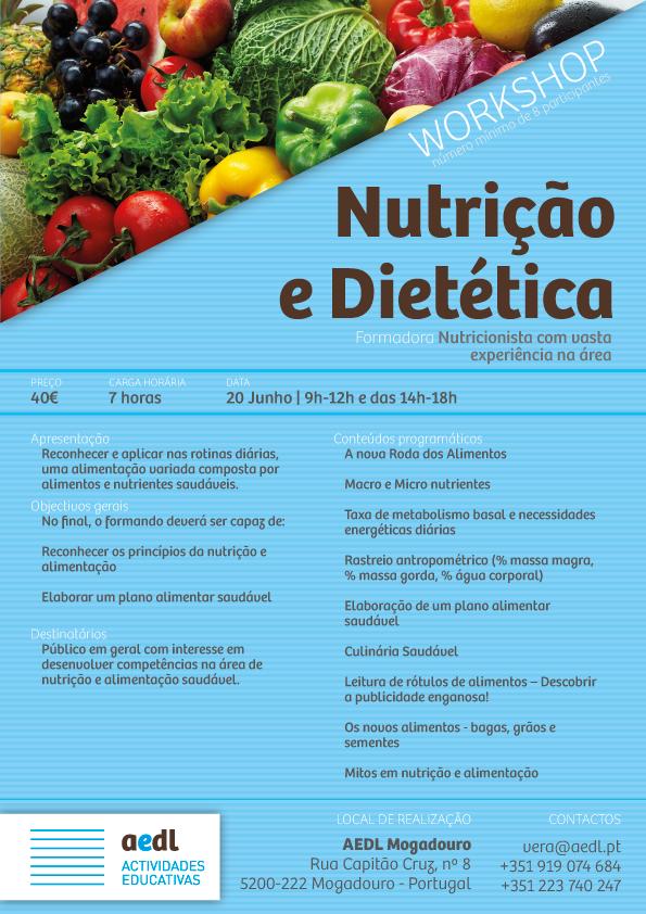 Workshop de nutrição e dietética em Mogadouro