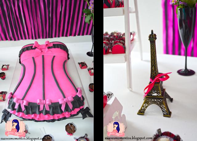 aniversário 30 anos tema moulin rouge preto e rosa