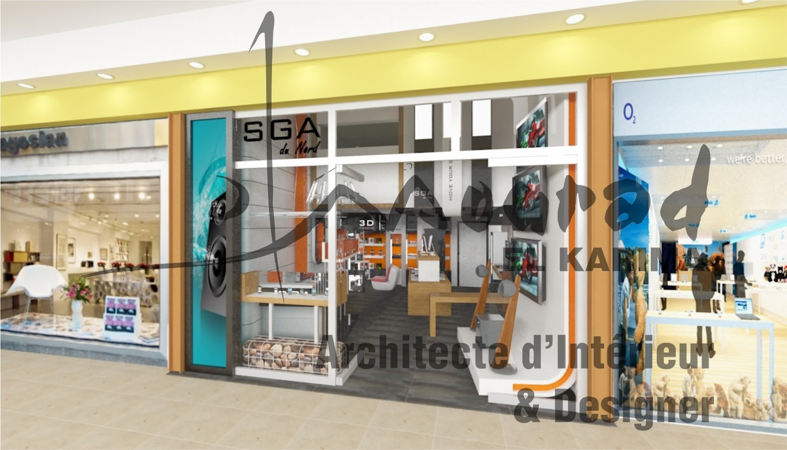 mourad el karima architecte d 39 interieur designer cb tec un espace d 39 envie high tech tanger. Black Bedroom Furniture Sets. Home Design Ideas