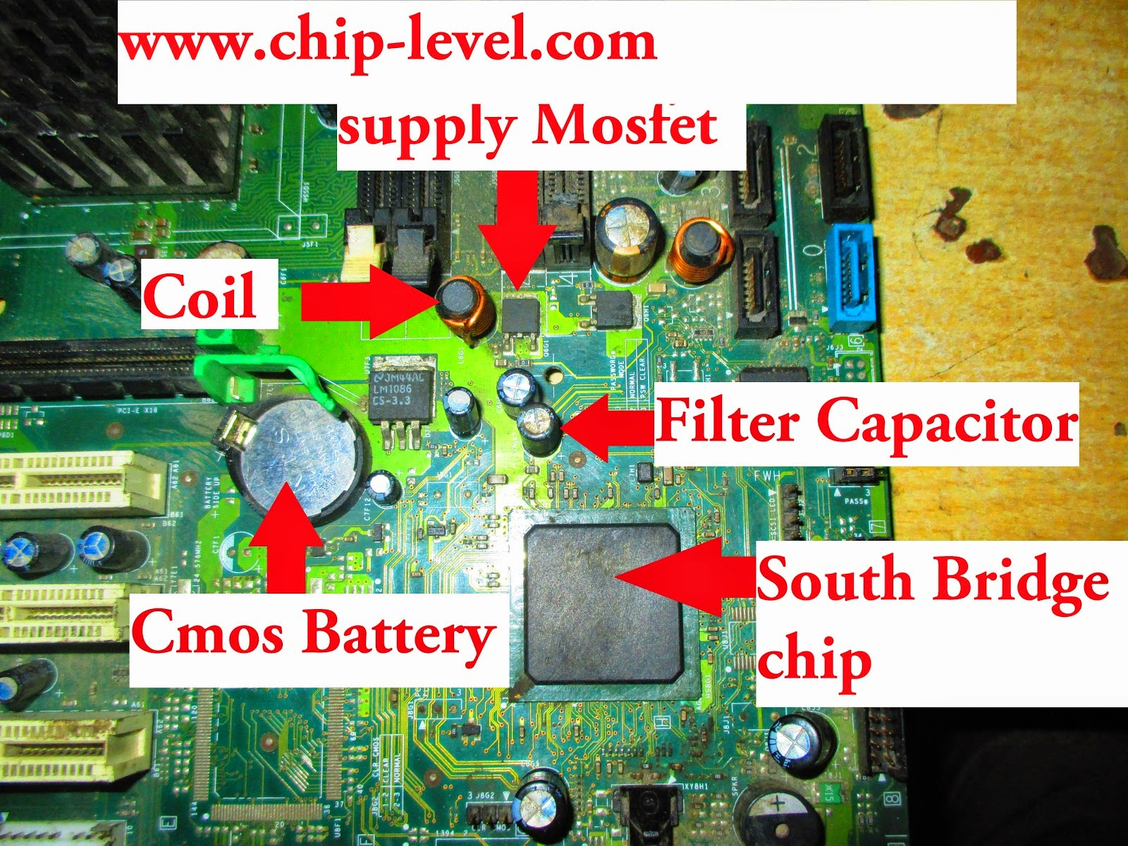 south-bridge-in-motherboard