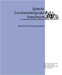 community based psychosocial support training manual