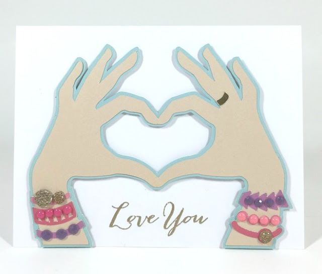 Cricut Hand Heart Card