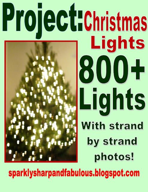 How to hang your christmas tree lights a sparkly life for me for How to hang lights on a christmas tree