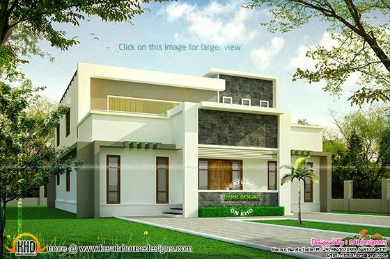 Modern flat roof home luxury