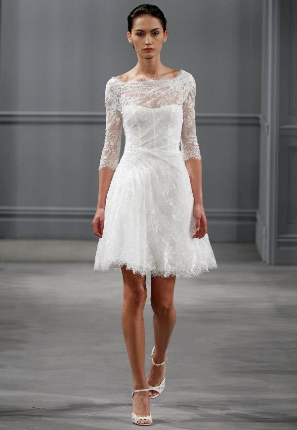 Viva la sposa 5 fun and fab short wedding dresses for Good wedding dresses for short brides
