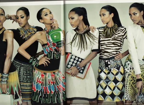 glamour magazine high fashion black model