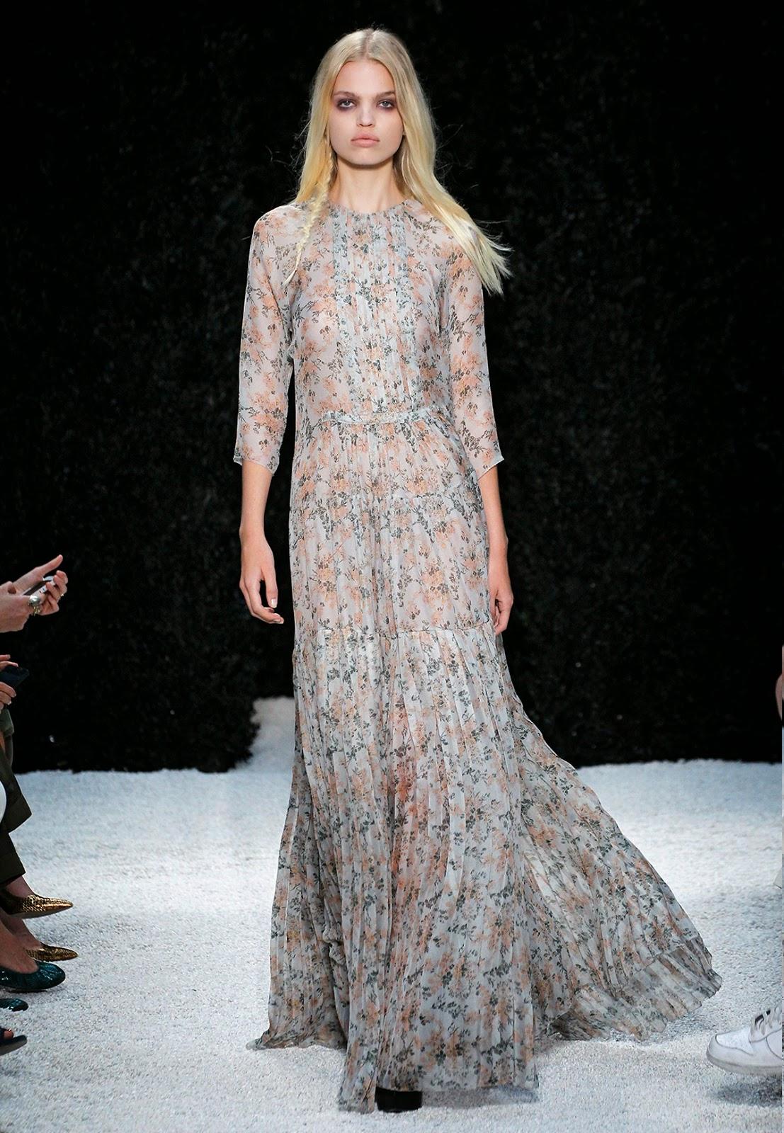 blush floral print silk gauze gown