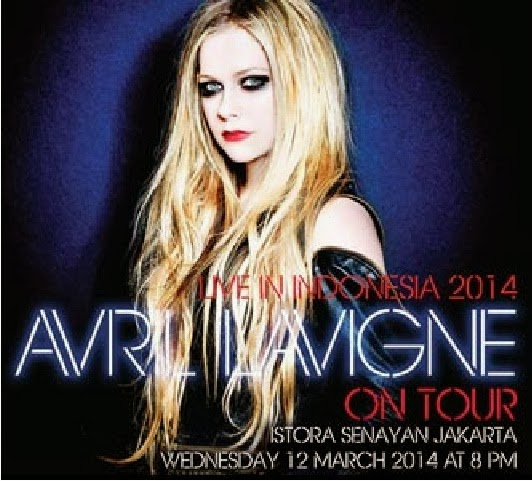 Avril lavigne live in Indonesia on March 12th 2014