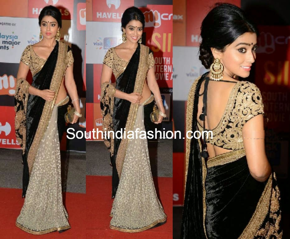 shriya saran in sabyasachi saree at siima 2014