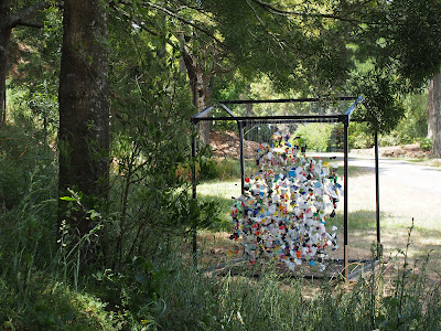 rubbish, installation, waitakaruru, sculpture