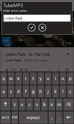 Baixar músicas do Youtube no Windows Phone