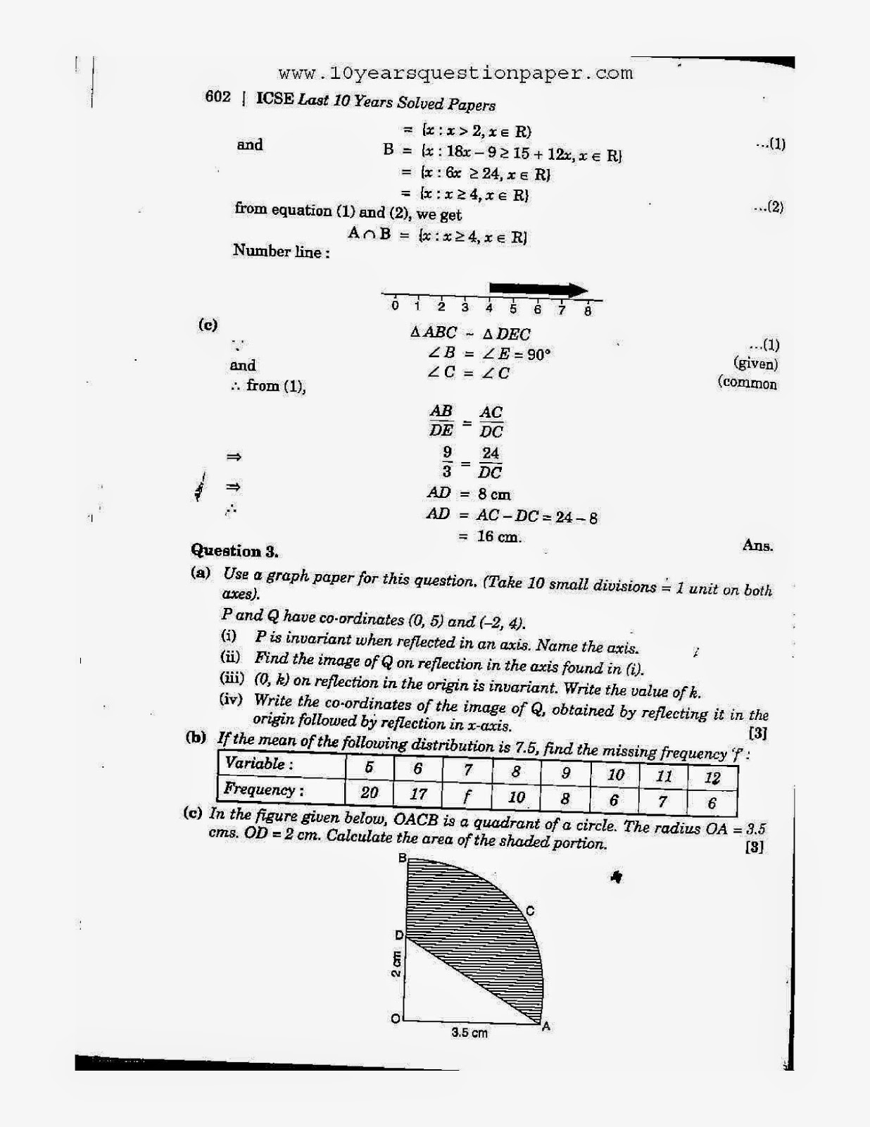 Icse 2005 mathematics solved board paper class 10 10 years icse class 10th mathematics solved question paper 2005 malvernweather Images