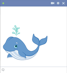 Happy Whale Facebook Sticker