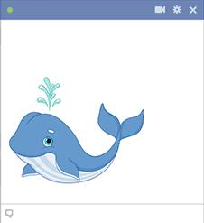 Happy Whale Emoticon