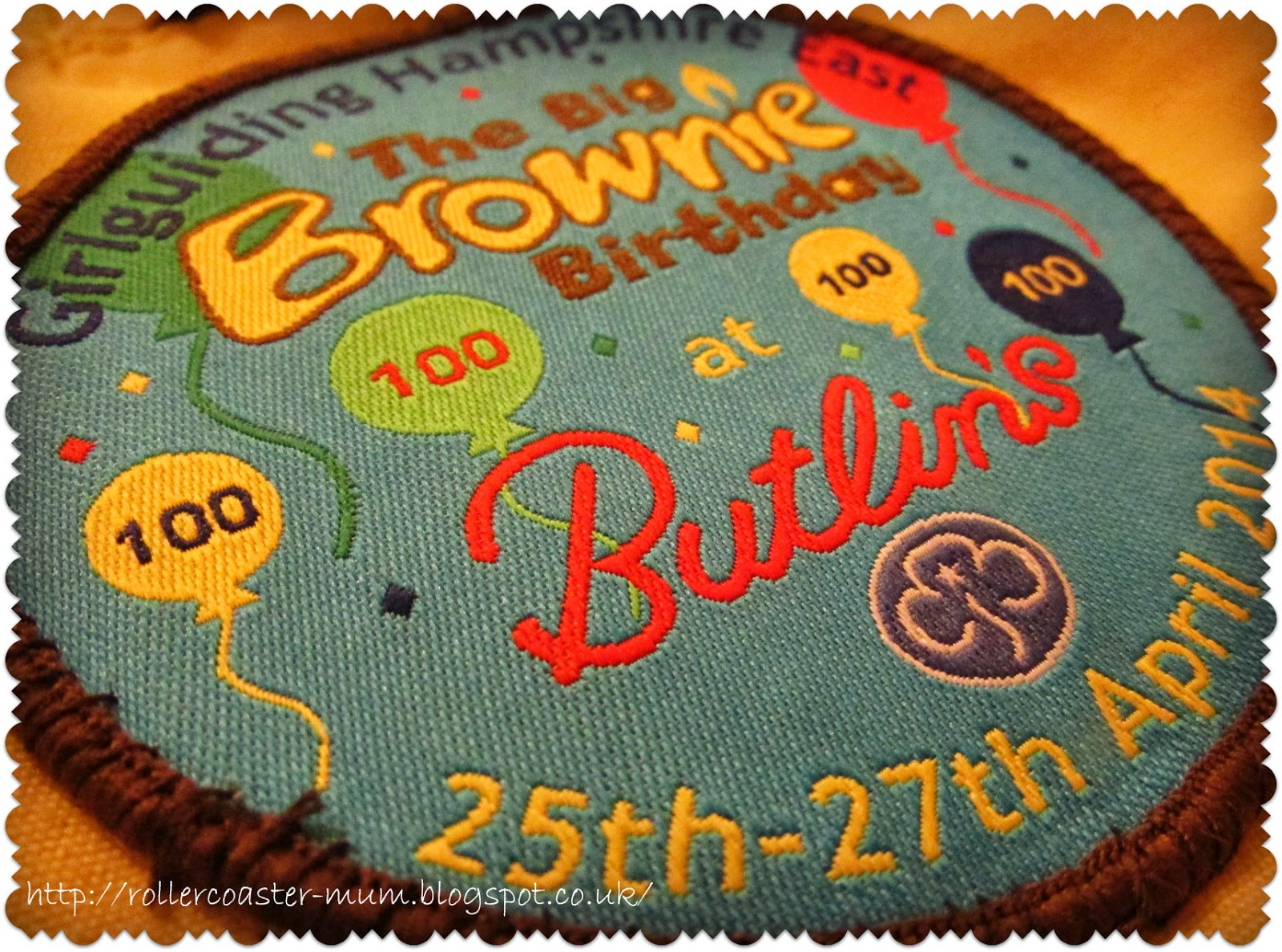 100 years - The Big Brownie Birthday Butlins badge