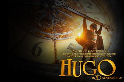 Poster de una escena de la película La invención de Hugo.