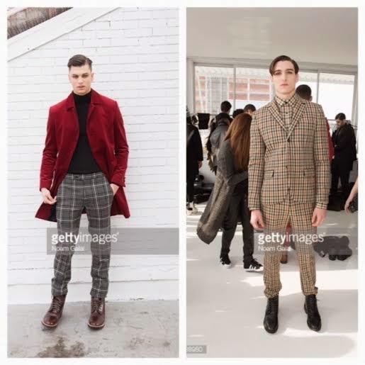 Joyce Darkoh designer, mens bespoke collection suits, red velvet mens jacket, mens checkered suit, New York Fashion Week 2015, menswear reviews f/w 15, bespoke menswear fashion week review