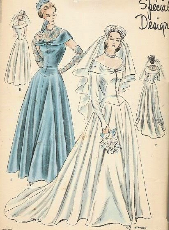 Welcome to the bridal emporium 39 s blog 1940 s vintage for 1940s wedding dress patterns