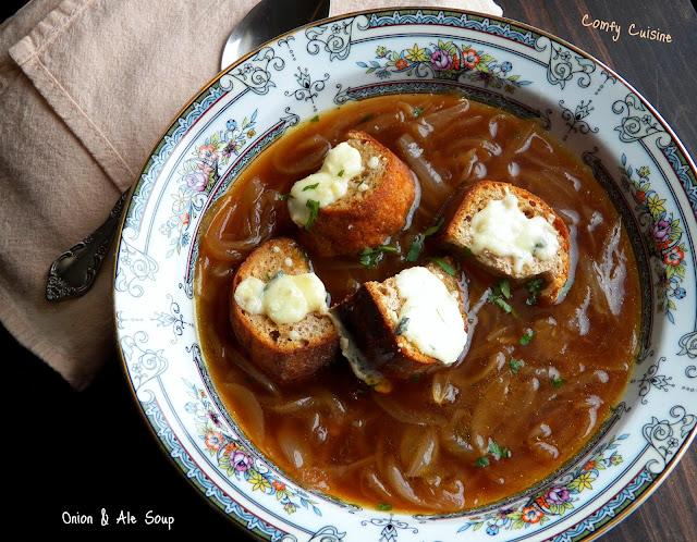 Comfy Cuisine: Pub Grub - Onion & Ale Soup