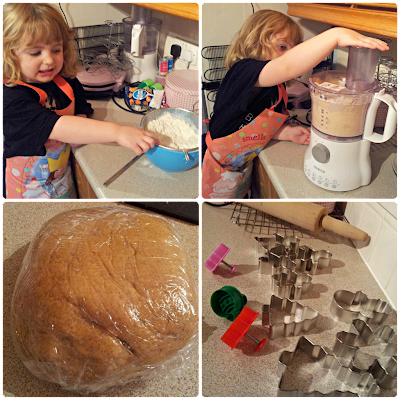 Making Christmas Gingerbread biscuits