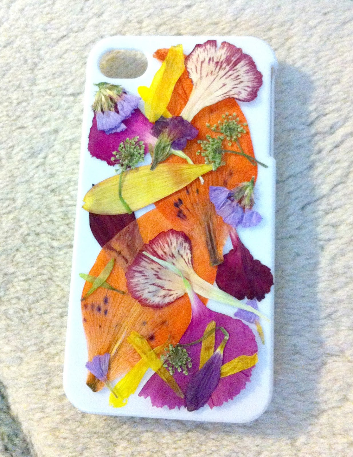 how to make a pressed flower phone case