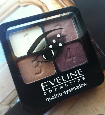 Oko w stylu Eveline cieniami Quattro Eyeshadow