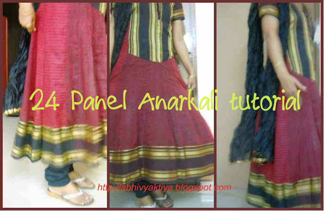 complete tutorial on 24 panel anarkali including drafting, cutting and sewing