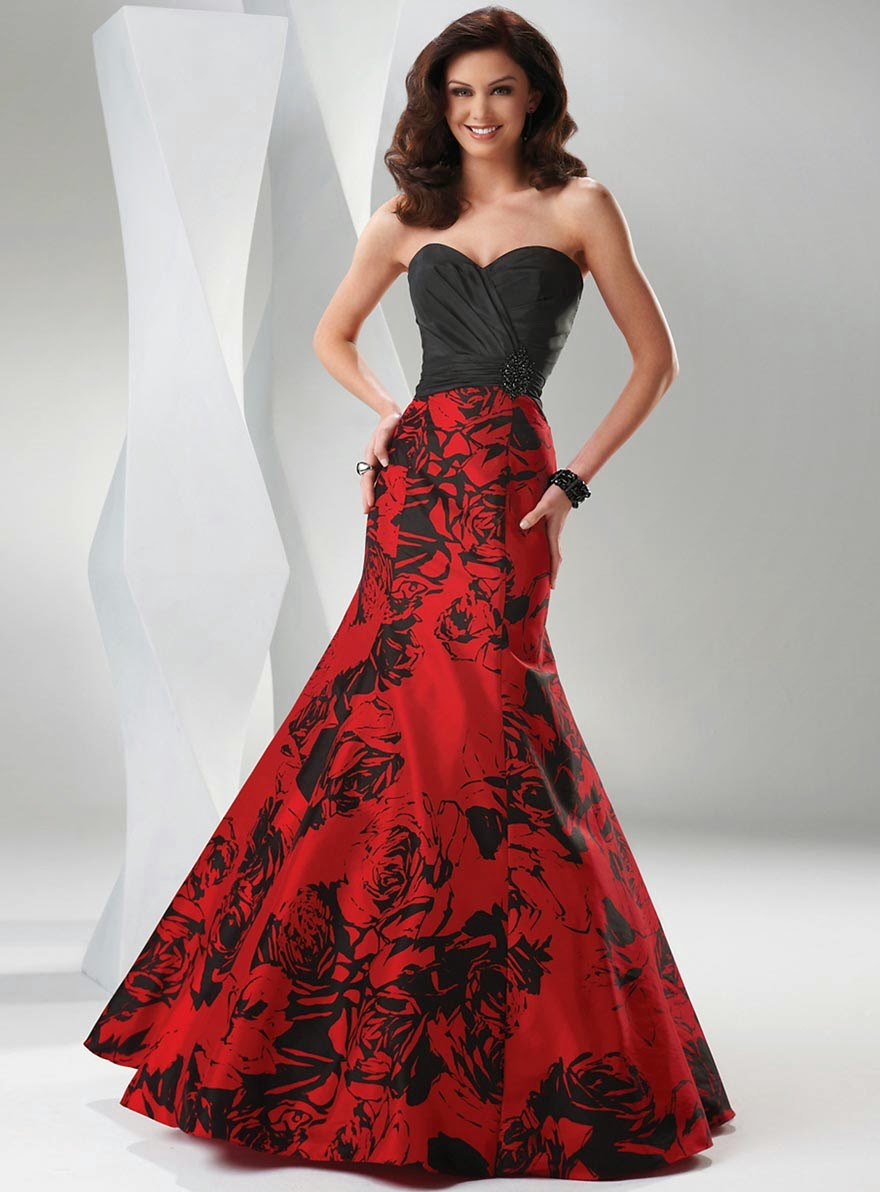 Modern Wedding Dresses With Color (Red and Black) Design Concept Photos HD